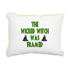 Wicked Witch Was Framed Rectangular Canvas Pillow