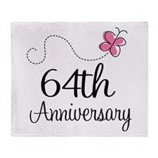 64th Anniversary Butterfly Throw Blanket