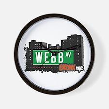 Webb Av, Bronx, NYC Wall Clock