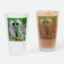 African Greys Drinking Glass