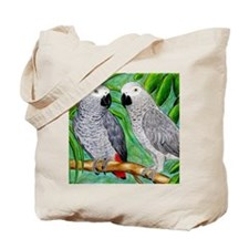 African Greys Tote Bag