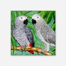 """African Greys Square Sticker 3"""" x 3"""""""