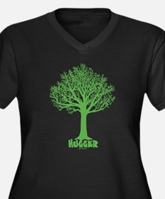 TREE hugger (dark green) Women's Plus Size V-Neck