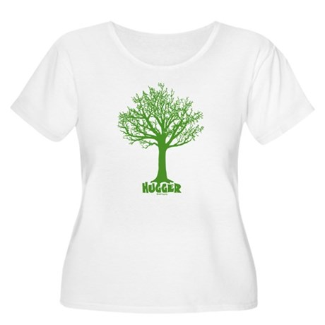 TREE hugger (dark green) Women's Plus Size Scoop N