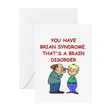 BRAIN syndrome Greeting Cards
