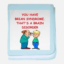 BRAIN syndrome baby blanket