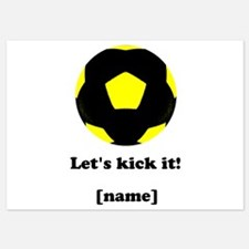 Personalized Lets kick it! - YELLOW Invitations