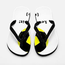 Personalized Lets kick it! - YELLOW Flip Flops