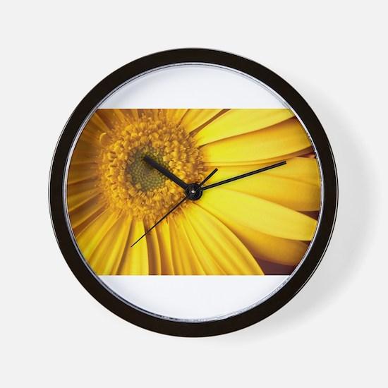 UP CLOSE [yellow daisy] Wall Clock
