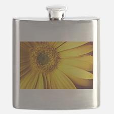UP CLOSE [yellow daisy] Flask