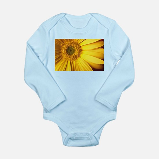 UP CLOSE [yellow daisy] Long Sleeve Infant Bodysui