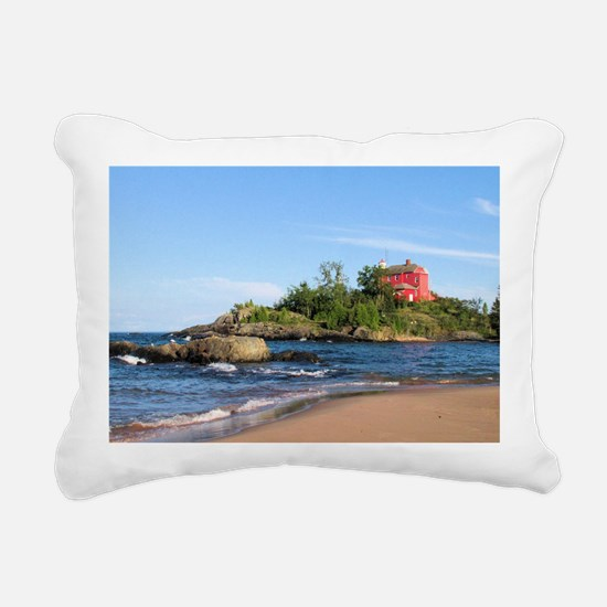 Marquette's red light ho Rectangular Canvas Pillow