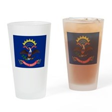 North Dakota flag Drinking Glass