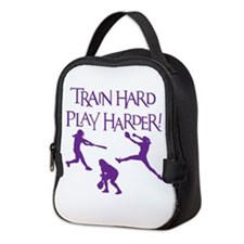 TRAIN HARD Neoprene Lunch Bag
