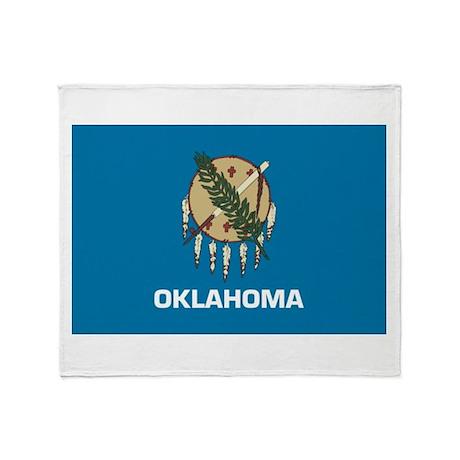 Oklahoma flag Throw Blanket