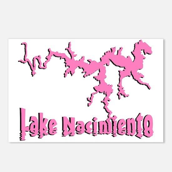 LAKE NACI w DRAGON [6 pink] Postcards (Package of
