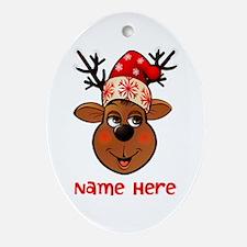 Reindeers Ornament (Oval)