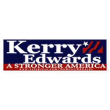 Kerry Edwards Bumper Car Sticker