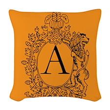 Gold Personalized Monogram Woven Throw Pillow