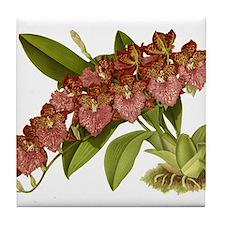 Vintage Orchid Tile Coaster