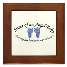 Sister of Angel Baby ^Boy^ Framed Tile