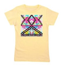 Trendy Fashion Stripes Neon Rainbow Wat Girl's Tee