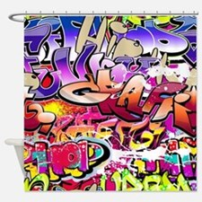 Graffiti Print Pattern Shower Curtain
