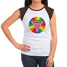 HOMOSEXUAL AROUSES FEELINGS Women's Cap Sleeve T-S