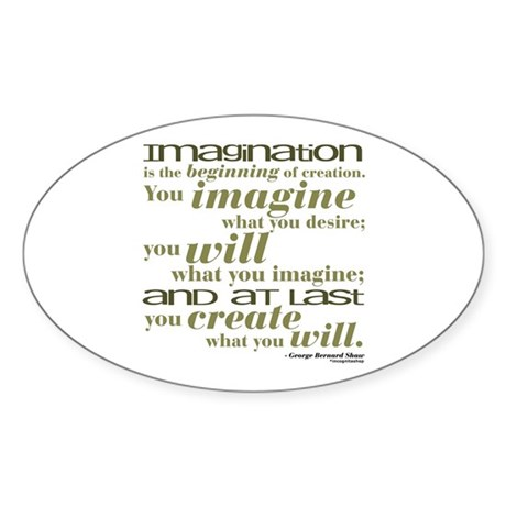 Shaw Quote No. 2 Oval Sticker
