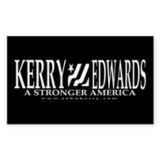 Kerry Edwards Black and White Decal