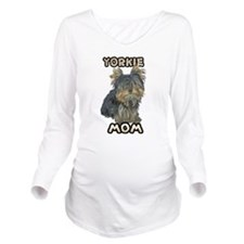 Yorkshire Terrier Mom Long Sleeve Maternity T-Shir
