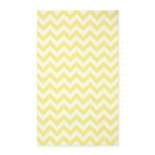 Light Yellow and White ZigZag 3'x5' Area Rug