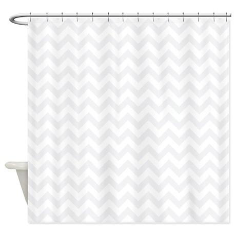 Light Grey And White Zigzag Shower Curtain By Zandiepantshomedecor