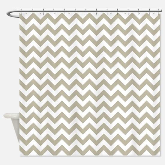 beige and white shower curtain. Burlap Beige and white ZigZag Shower Curtain And White Striped Curtains  CafePress