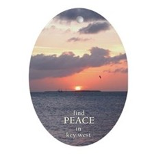Find PEACE in KEY WEST- Oval Ornament