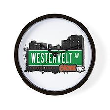 Westervelt Av, Bronx, NYC Wall Clock