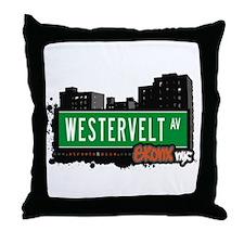 Westervelt Av, Bronx, NYC Throw Pillow