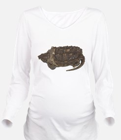 FIN-snapping-turtle... Long Sleeve Maternity T-Shi