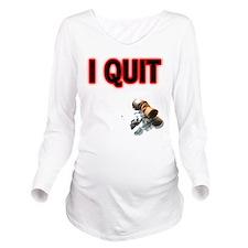 FIN-i-qut-butt.png Long Sleeve Maternity T-Shirt
