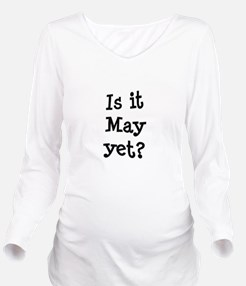 FIN-may-yet.png Long Sleeve Maternity T-Shirt