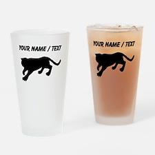 Custom Cougar Silhouette Drinking Glass