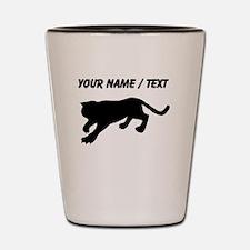 Custom Cougar Silhouette Shot Glass