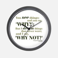 Shaw Quote No. 3 Wall Clock