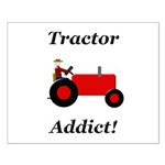 Red Tractor Addict Small Poster