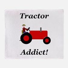Red Tractor Addict Throw Blanket