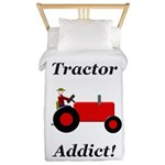 Red Tractor Addict Twin Duvet