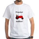 Red Tractor Addict White T-Shirt