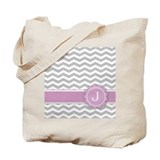 Monogram pink Canvas Totes