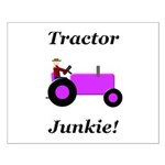 Purple Tractor Junkie Small Poster