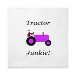Purple Tractor Junkie Queen Duvet